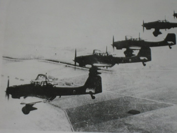German Stuka dive bombers over Poland in 1939