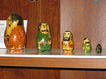Russian nesting dolls of Adolf Hitler